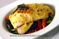Grilled Fish With Curried Coconut Sauce
