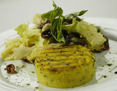 Olive And Sun Dried Tomatoes Grilled Polenta Recipes — Dishmaps