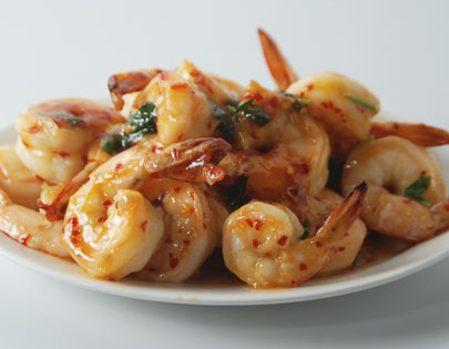 Grilled Prawns In Vodka Sauce