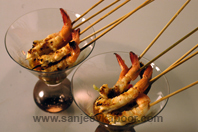 Grilled Prawns With Spicy Lemon Dressing