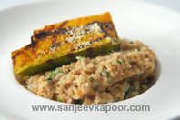 Grilled Pumpkin And Spinach Risotto