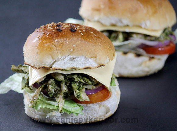 Indian Chicken Burger