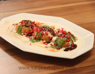 Instant Brown Bread Dahi Vada