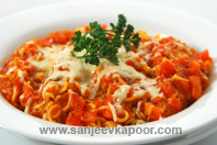 Instant Noodles In Tomato Sauce