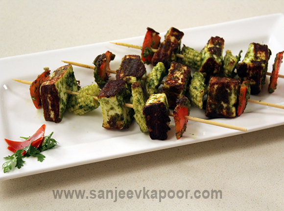 Pure jain food recipes by master chef sanjeev kapoor jain hariyali paneer tikka forumfinder Image collections