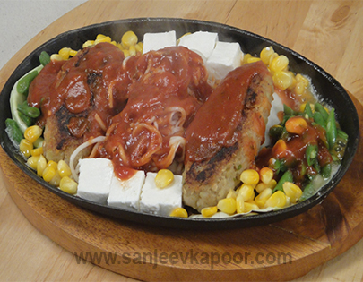 How to make jain sizzler recipe by masterchef sanjeev kapoor jain sizzler recipe card forumfinder Image collections