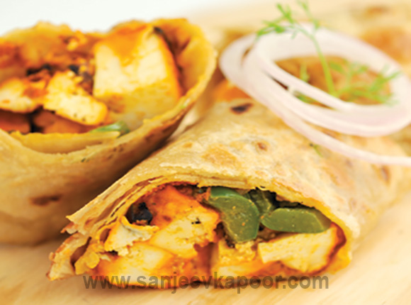 How to make kathi roll recipe by masterchef sanjeev kapoor forumfinder Choice Image