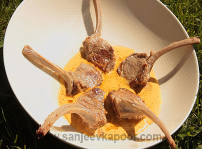 Lamb Popsicles in Cream Sauce