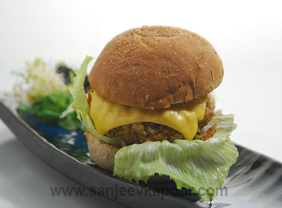 Leftover Chana Chawal Burger