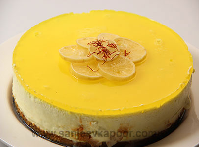 Lemon Rasmalai Cheesecake