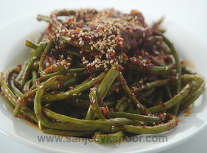 Long Beans With Honey Sesame