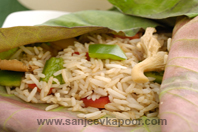 Lotus Root Leaf Rice