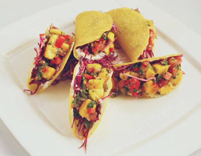 How to make mango tacos recipe by masterchef sanjeev kapoor for more recipes related to mango tacos checkout makai pizza nacho chips you can also find more snacks and starters recipes like bheeghe kulche chole forumfinder Choice Image