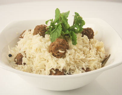 Meat Ball Pulao