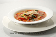 Minestrone Toscano With Pesto Croute