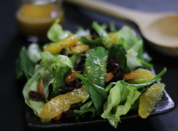 Mixed Greens Salad with Orange and Poppy Seed Dres
