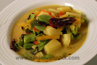 Mixed Vegetables In Coconut Kadhi