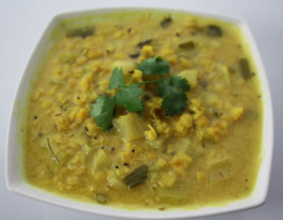 Mooli Dal With Methi