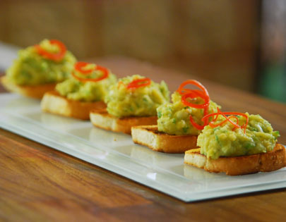 Moong and Chana Crostini