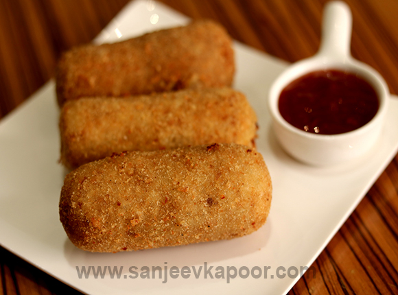 how to make mushroom potato rolls recipe by masterchef sanjeev kapoor