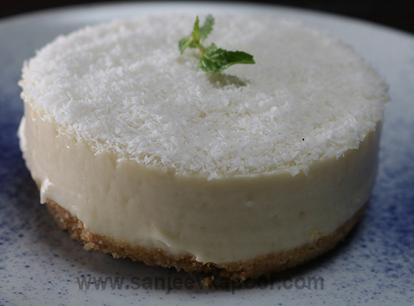 No Bake Coconut Cheesecake