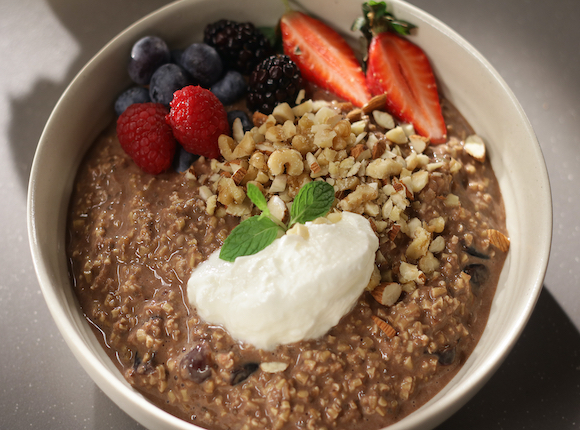 OVERNIGHT CHOCOLATE OATS - skk