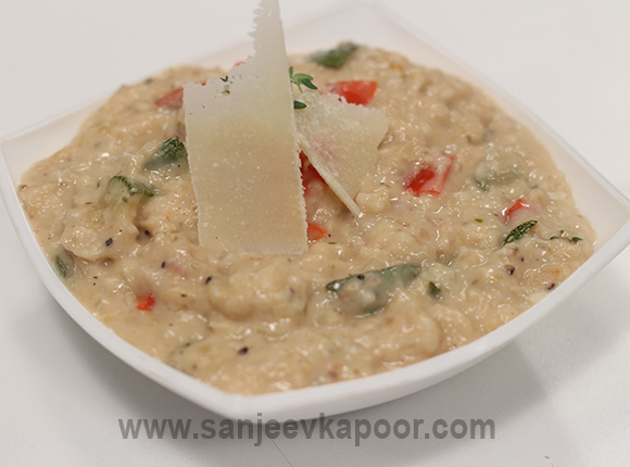 Oats and Grilled Vegetable Porridge