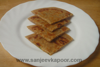 Onion And Rice Parantha