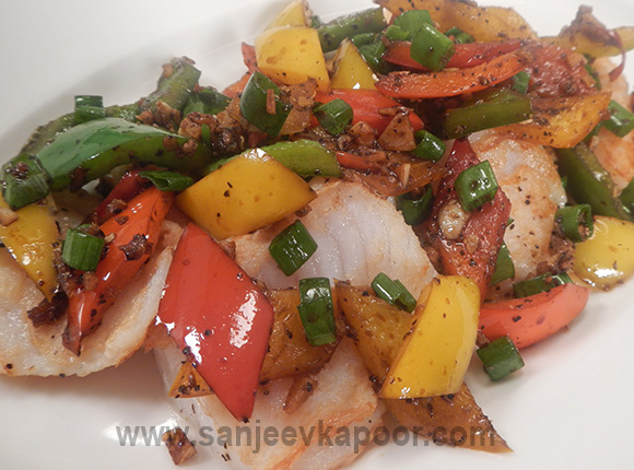 Pan Seared Fish with Chilli, Garlic, Soy