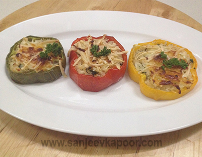 Paneer Pepper and Rice Bake