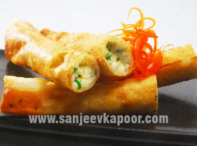 Paneer and Cheese Cigars