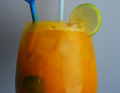 Passionfruit And Mango Mocktail