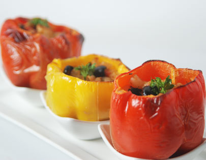 Pasta Stuffed Bell Peppers
