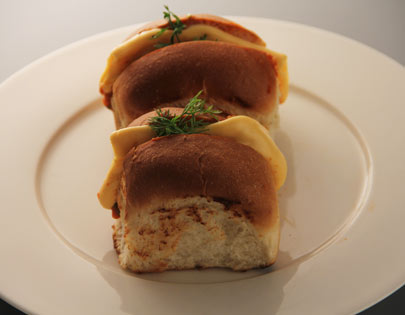 Pav Bhaji Buns with Cheese
