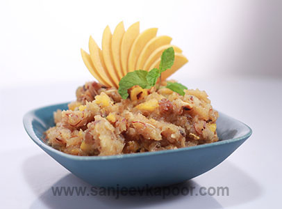 Peach Bread Halwa