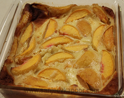 How to make peach clifoutis recipe by masterchef sanjeev - 17th century french cuisine ...