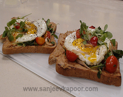 Peanut Butter Toast with Fried Egg