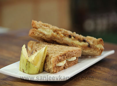 How To Make Peanut Butter And Banana Sandwich Recipe By Masterchef