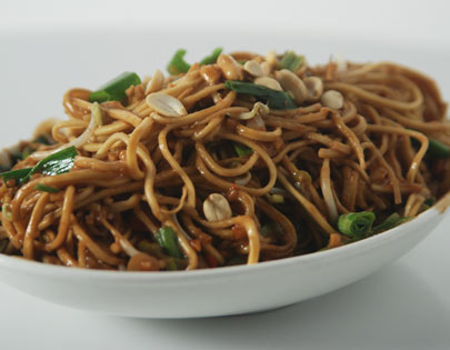 Peanut Butter Noodles Recipe - Noodles cooked in peanut butter