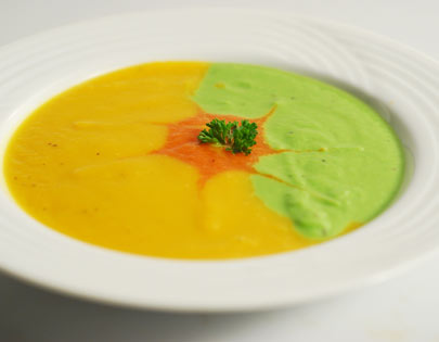 Peas and Pumpkin Soup