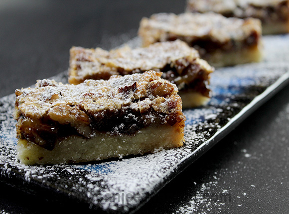 How to make Pecan Pie Bars - The mixture of pecans and chocolate chips ...