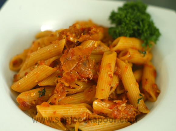 How To Make Penne Arrabiata Recipe By MasterChef Sanjeev Kapoor