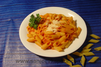 Penne With Herb And Tomato Sauce