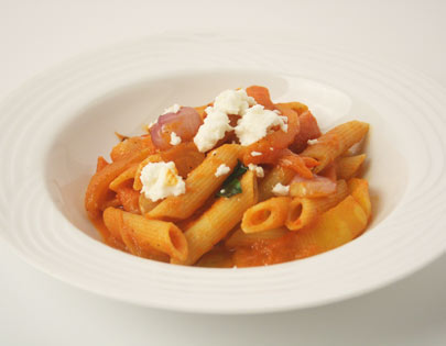 Penne With Pepper Couli