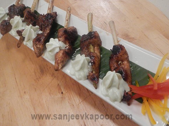 Pepper Soya Chicken Supremes with Wasabi Foam
