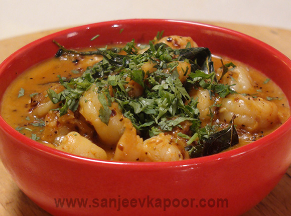 Peppered Prawns in Coconut Milk