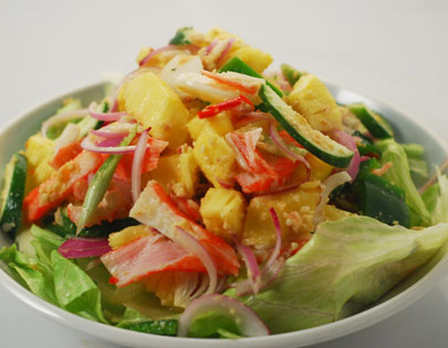 Pineapple Chilli Crab Stick Salad