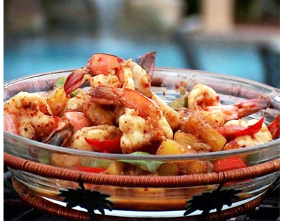 Pineapple Prawn And Peppers