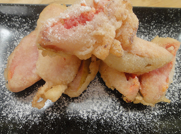 Pink Guava Fritters