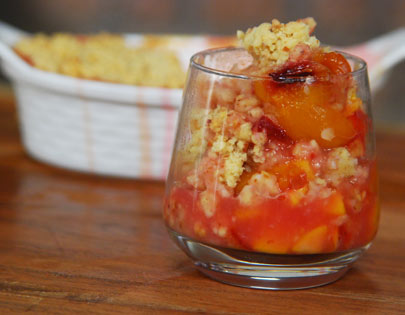 Plum, Peach and Apricot Crumble
